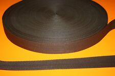 SANGLE RUBAN Gros Grain MARRON 40 mm pour vos loisirs créatifs Vendu aux Mètres
