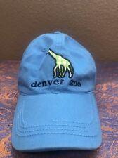 Denver Zoo Blue Giraffe Baseball Cap Hat
