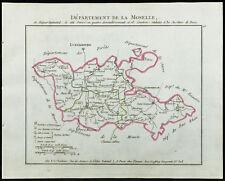 1802 - Carte ancienne département de la Moselle de Chanlaire. France