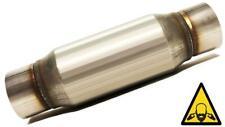 """2.5"""" straight Universal Glass Pack Muffler Resonator Stainless Steel"""