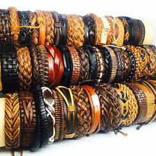 wholesale 100pcs black brown vintage leather handmade surfer Jewelry Bracelets
