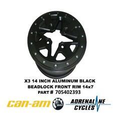 Can Am Maverick X3 Front Beadlock Wheel Rim 14x7 OEM NEW #705402393