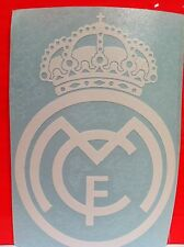 "Real Madrid Deportivo Two 5""x3"" White Vinyl Decal sticker For Apple Laptop, car"
