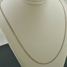 10K WHITE GOLD 18 INCH 2.0MM INTERLINK (LOVE) CHAIN NECKLACE FREE SHIPPING