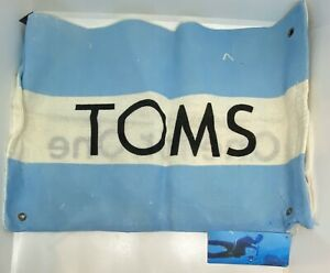 """TOMS Flag, Shoe Duster Bag Only, 14"""" X 8"""", New with Tags"""