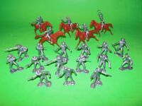 Marx Classic Recast 25 Western Cowboys Plastic Figures Set New In Baggie NICE!