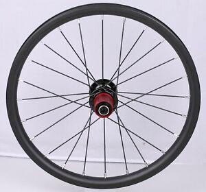 HYLIX 16*1 1/4-349*23mm-Full Carbon Rear Wheel for Bike Friday Tikit