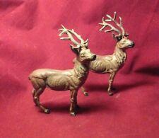 Vintage Antique Putz Stag Buck Reindeer Christmas Cast Lead Germany