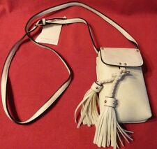 Cream Isabelle Crossbody or Shoulder Style Mini Bag Purse Removable Tassels