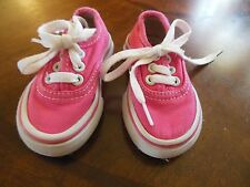 Toddler Girls Hot Pink Canvas Levi Tennis Shoes, Euc, Sz 5, Lace-ups