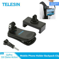 TELESIN Mobile Phone Holder Backpack Clip Chest Fixed Bracket for Gopro Camera