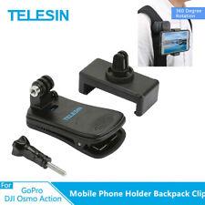 TELESIN Mobile Phone Holder Backpack Clip Chest Fixed Bracket for Gopro Camera