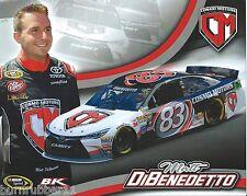 """2016 MATT DIBENEDETTO """"COSMO MOTORS BK RACING"""" #83 NASCAR SPRINT CUP POSTCARD"""