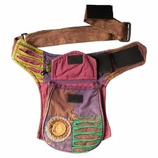 Practical Razor Cut Cotton Hip Fanny Pack Travel Utility Waist Belt Bag-7080