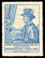 Germany Poster Stamp - 1907 Aachen - Exhibition of Religious Art and Crafts  (A)