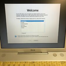 Vintage Apple iBook (2002) M8603LL/A - 700MHz 256MB 30GB   *AS-IS*   MV1701