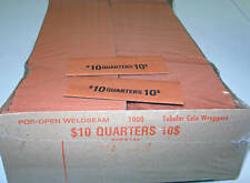 1000 QUARTER COIN OLD STYLE FLAT WRAPPERS