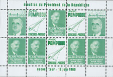 """VIGNETTE POLITIQUE VERT """"Presidentielle 2e TOUR / POMPIDOU - CONCORDE"""" 1969"""