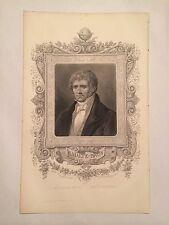 GRAVURE GEOGRAPHIE UNIVERSELLE 1881 MALTE BRUN PORTRAIT