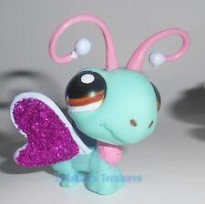 Littlest Pet Shop # 2276 glitzer Schmetterling glitter sparkle Butterfly türkis