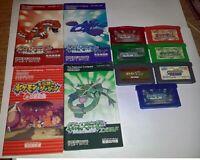 Nintendo GameBoy Advance Pokemon Pocket Monsters Series Game LOT x7 *Used* *JPN*