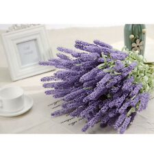 12-Heads Artificial Bouquet Silk Lavender Fake Flower Wedding Home Decor