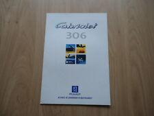 PEUGEOT 306 CABRIOLET BROCHURE / PROSPEKT 1996