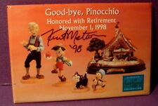 Disney Classic WDCC Goodbye Pinocchio Retirement Button signed by Artist Pin