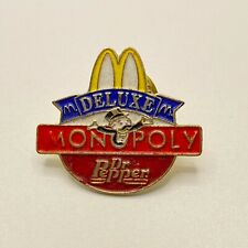 New 1996 Mcdonalds Monopoly Dr Pepper Deluxe Employee Tonga Corp Pin Hat  Lapel