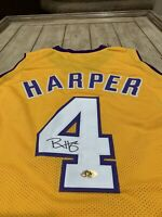 Ron Harper Autographed/Signed Jersey MAB Los Angeles Lakers LA