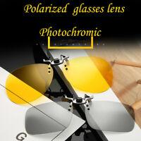 Polarizzati Lente Flip-Up Clip On Occhiali da Sole UV400 Guida All'aperto
