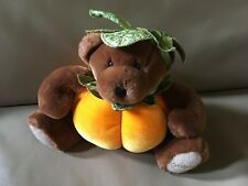 "Godiva Plush Bear Pumpkin Costume Fall NO Chocolate 7"" Tall"