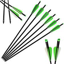 "6X 18"" Aluminum Bolts Hunting 125 Grain Screw Tips Moon Knock Archery Crossbow"