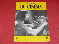 [REVUE LES CAHIERS DU CINEMA] N°101 # NOV 1959 G. FRANJU Truffaut EO 1rst Print