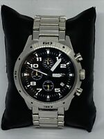 Fossil CH2517 Man's Silver Stainless Steel Analog Dial Qartz Wrist Watch KS586