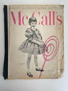 Vtg McCall's Novelty & Needlework Pattern Catalog Store Counter Book Oct 1958