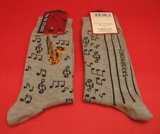 Saxophone Design Men's Cotton Socks Brass Band Orchestra Musician Music Gift