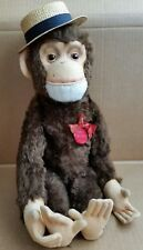 Vintage 17� Schuco Yes-No Mechanical Monkey Ape Tricky Tag Mohair Germany Works