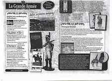 SOLDATS NAPOLEON  INFANTERIE DE LIGNE OFFCIR 1812  N° 61