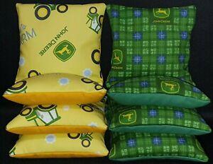 Set Of 8 John  Deere Tractor Cornhole Bean Bags FREE SHIPPING