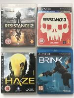 Haze + Brink + Resistance 2 + Resistance 3  - PS3 Game Bundle - (704)