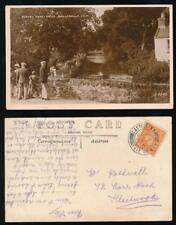 ISLE of MAN 1943 REAL PHOTO PPC RUSHEN ABBEY DRIVE BALLASALLA