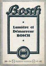 Catalogo Bosch Lumiere et Demarreur - Fari e Starter  1936 Dynamo - Batterie