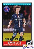 2015 Donruss David Luiz SILVER PRESS PROOF #/199 MINT Paris Saint-Germain