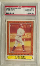 """1985 Woolworth - #31 """"BABE RUTH"""" (NY Yankees) (Topps®) PSA 10 (GEM MINT)"""
