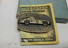 ROWLEY DESIGNS BRONZE MONEY CLIP WANTED FASTER CAR