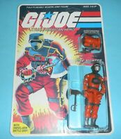 *RECARDED* 1985 GI Joe Barbeque v1 Figure Complete Sealed *CUSTOM File Card Back