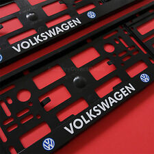 New 2 x VW Number Plate Surrounds Holder Frame For VOLKSWAGEN Cars