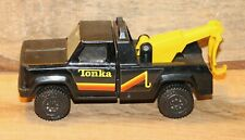 "Vintage Tonka Black Tow Truck Made in USA 6.5"" Long +"