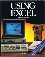 Using Excel IBM Version (1988, QUE) Free USA Shipping!
